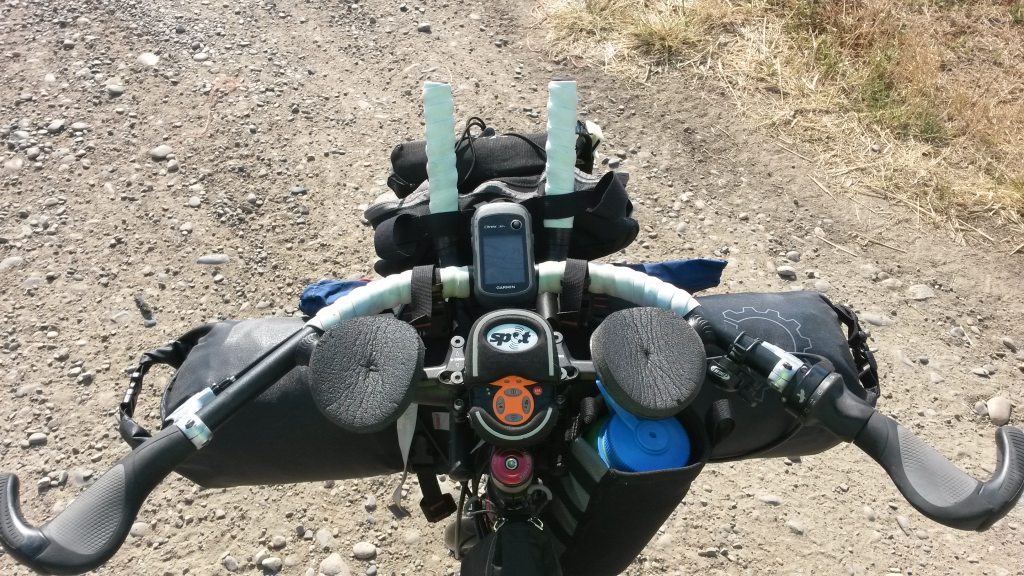Image showing Garmin eTrex 30x installed on Surly Krampus with Jones 710 Loop H-Bar